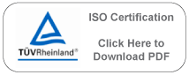 ISO Certification - click here to download pdf